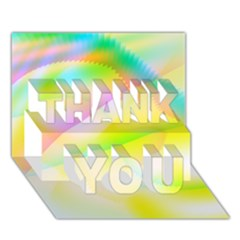 New 6 Thank You 3d Greeting Card (7x5)  by timelessartoncanvas