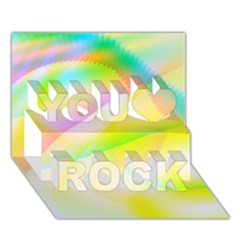 New 6 You Rock 3d Greeting Card (7x5)  by timelessartoncanvas