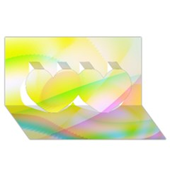 New 7 Twin Hearts 3d Greeting Card (8x4)