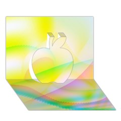 New 7 Apple 3d Greeting Card (7x5)  by timelessartoncanvas