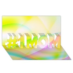 New 7 #1 Mom 3d Greeting Cards (8x4)