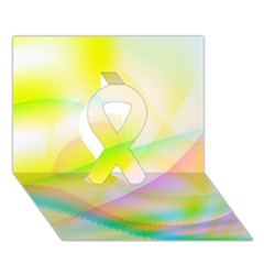 New 7 Ribbon 3d Greeting Card (7x5)
