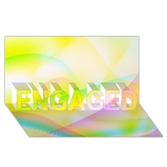 New 7 Engaged 3d Greeting Card (8x4)