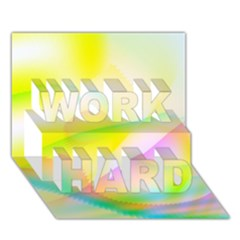 New 7 Work Hard 3d Greeting Card (7x5)  by timelessartoncanvas