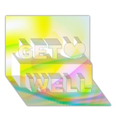 New 7 Get Well 3d Greeting Card (7x5)  by timelessartoncanvas
