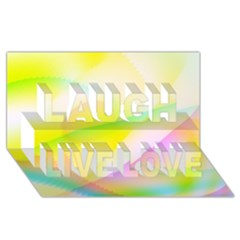 New 7 Laugh Live Love 3d Greeting Card (8x4)  by timelessartoncanvas