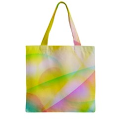 New 7 Zipper Grocery Tote Bag by timelessartoncanvas