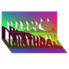 New 8 Happy Birthday 3d Greeting Card (8x4)  by timelessartoncanvas