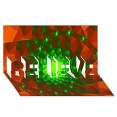 New 10 Believe 3d Greeting Card (8x4)  by timelessartoncanvas