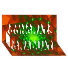 New 10 Congrats Graduate 3d Greeting Card (8x4)  by timelessartoncanvas