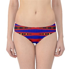 Bright Blue Red Yellow Mod Abstract Hipster Bikini Bottoms