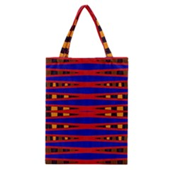 Bright Blue Red Yellow Mod Abstract Classic Tote Bag by BrightVibesDesign