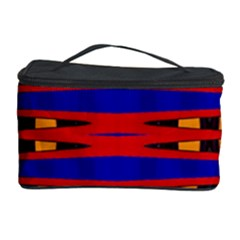 Bright Blue Red Yellow Mod Abstract Cosmetic Storage Cases