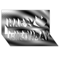 New 12 Happy Birthday 3d Greeting Card (8x4)  by timelessartoncanvas