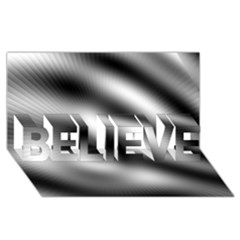 New 12 Believe 3d Greeting Card (8x4)  by timelessartoncanvas