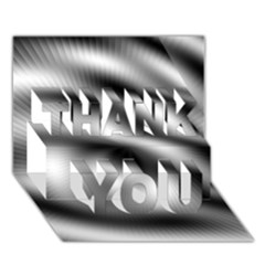 New 12 Thank You 3d Greeting Card (7x5)  by timelessartoncanvas