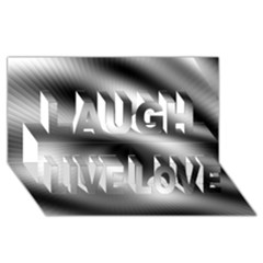 New 12 Laugh Live Love 3d Greeting Card (8x4)