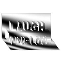 New 15 Laugh Live Love 3d Greeting Card (8x4)  by timelessartoncanvas