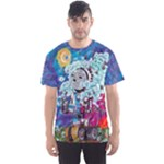 sunset robot shirt - Men s Sports Mesh Tee