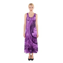 Vintage Purple Lady Cameo Full Print Maxi Dress by BrightVibesDesign