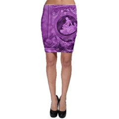 Vintage Purple Lady Cameo Bodycon Skirt by BrightVibesDesign