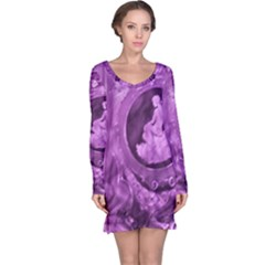 Vintage Purple Lady Cameo Long Sleeve Nightdress by BrightVibesDesign