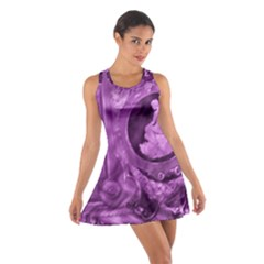 Vintage Purple Lady Cameo Cotton Racerback Dress by BrightVibesDesign