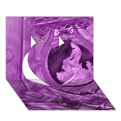 Vintage Purple Lady Cameo Heart 3d Greeting Card (7x5)