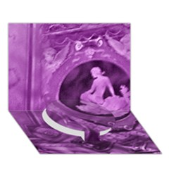 Vintage Purple Lady Cameo Circle Bottom 3d Greeting Card (7x5)  by BrightVibesDesign