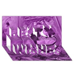Vintage Purple Lady Cameo Best Wish 3d Greeting Card (8x4)