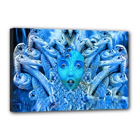 Medusa Metamorphosis Canvas 18  X 12  by icarusismartdesigns