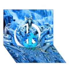 Medusa Metamorphosis Peace Sign 3d Greeting Card (7x5)  by icarusismartdesigns