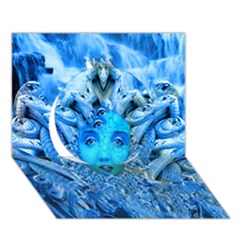 Medusa Metamorphosis Circle 3d Greeting Card (7x5)  by icarusismartdesigns