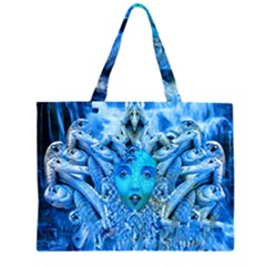 Medusa Metamorphosis Zipper Large Tote Bag by icarusismartdesigns