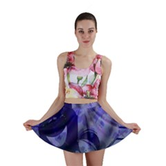 Blue Comedy Drama Theater Masks Mini Skirts by BrightVibesDesign
