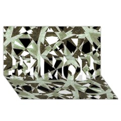 Modern Camo Print #1 Mom 3d Greeting Cards (8x4)