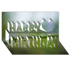 After The Rain Happy Birthday 3d Greeting Card (8x4)