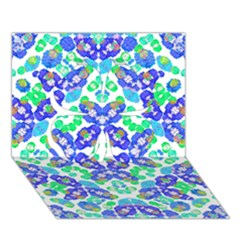 Stylized Floral Check Seamless Pattern Clover 3d Greeting Card (7x5)  by dflcprints
