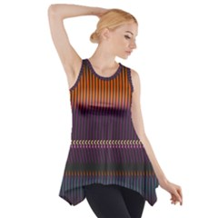 Curvy Stripes       Side Drop Tank Tunic by LalyLauraFLM