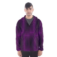 Purple Black Rectangles         Mesh Lined Wind Breaker (men) by LalyLauraFLM