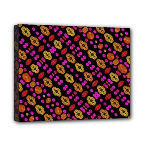 Stylized Floral Stripes Collage Pattern Canvas 10  X 8  by dflcprints