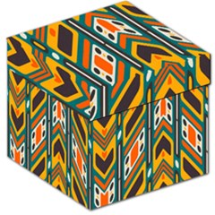 Distorted Shapes In Retro Colors   Storage Stool by LalyLauraFLM
