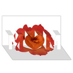 Red Rose Photo Mom 3d Greeting Card (8x4)  by dflcprints
