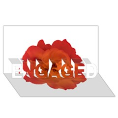 Red Rose Photo Engaged 3d Greeting Card (8x4)  by dflcprints