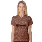Just Leopard Women s V-Neck Sport Mesh Tee