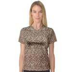 Just Snow Leopard Women s V-Neck Sport Mesh Tee