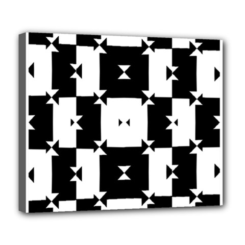 Black And White Check Pattern Deluxe Canvas 24  X 20   by dflcprints