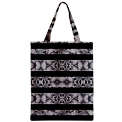 Alien Seamless Stripes Zipper Classic Tote Bag by dflcprints