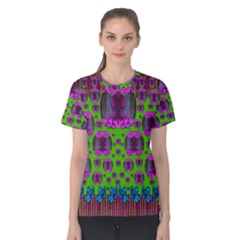 Ladies Looking At Beauty And Love Women s Cotton Tee by pepitasart
