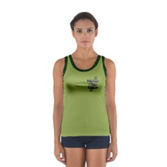 Bunyaville green background Women s Sport Tank Top  by bunyaville